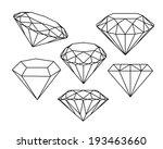 set of diamonds icons. vector... | Shutterstock .eps vector #193463660