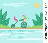 cute children bike with flowers ... | Shutterstock .eps vector #1934640170