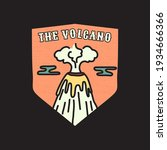 vintage volcano emblem.... | Shutterstock .eps vector #1934666366