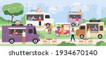 street food festival. people...   Shutterstock .eps vector #1934670140