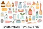 flat hygiene and beauty... | Shutterstock .eps vector #1934671709
