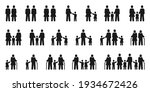 family icons. diversity couples ... | Shutterstock .eps vector #1934672426