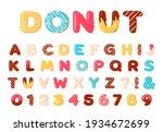 donuts alphabet. sweet doughnut ...   Shutterstock .eps vector #1934672699
