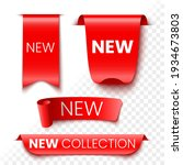 new collection red sale banners ... | Shutterstock .eps vector #1934673803