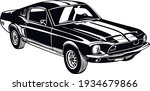 muscle car   old usa classic...   Shutterstock .eps vector #1934679866