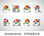 business people assembling... | Shutterstock .eps vector #193468118