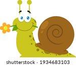 Cute Snail Cartoon Character...