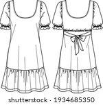 vector short sleeved dress... | Shutterstock .eps vector #1934685350