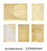 set of  old photo paper texture ... | Shutterstock . vector #193469444