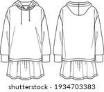 vector sweat dress fashion cad  ... | Shutterstock .eps vector #1934703383