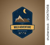 summer camping boating badge or ... | Shutterstock .eps vector #193470458