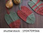 Leaf Macromes Made Of Brown And ...