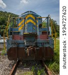 Old Abandoned Train Engine In...
