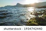 Rocks  Slight Sea Waves At...