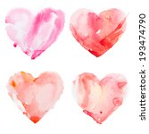 Watercolour Heart Isolated On...