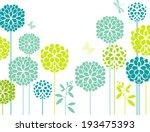 blue chrysanthemum   Shutterstock .eps vector #193475393