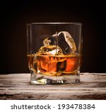 glasses of whiskey with ice... | Shutterstock . vector #193478384