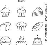 bakery icon isolated on white...
