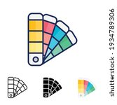 color palette icon in different ... | Shutterstock .eps vector #1934789306