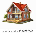 vector of a beautiful house.... | Shutterstock .eps vector #1934792063