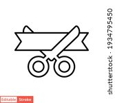 grand opening line icon. simple ... | Shutterstock .eps vector #1934795450