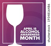 april is national alcohol...   Shutterstock .eps vector #1934816486