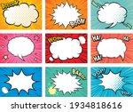 dialogue balloon comic... | Shutterstock .eps vector #1934818616