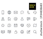 contact us line icons   stock... | Shutterstock .eps vector #1934838683