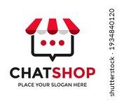 shopping chat vector logo... | Shutterstock .eps vector #1934840120