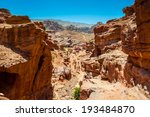 one of the rocks in petra  rose ... | Shutterstock . vector #193484870