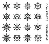 ship wheel controller icons set....   Shutterstock .eps vector #1934857970