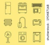 home appliance icons set ...