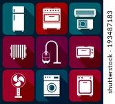 home appliance icons set  white ... | Shutterstock .eps vector #193487183