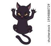 Swank And Disdainful Black Cat...