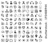 doodle style vector icons of... | Shutterstock .eps vector #193488944