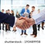 business handshake  | Shutterstock . vector #193489958