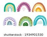 set of rainbows in scandinavian ...   Shutterstock .eps vector #1934901530