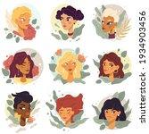 female avatars portraits....   Shutterstock .eps vector #1934903456