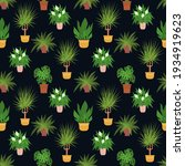 seamless pattern with potted...   Shutterstock .eps vector #1934919623