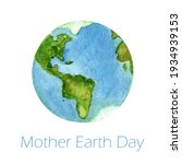 Happy Earth Day With Globe...