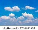 Cumulus White Clouds Floating...
