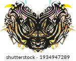 carnival cat mask colorful... | Shutterstock .eps vector #1934947289
