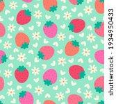 cute hand drawn strawberry ... | Shutterstock .eps vector #1934950433