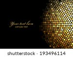 vector background with gold... | Shutterstock .eps vector #193496114