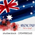 Anzac Day Background With...
