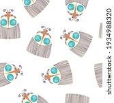 seamless pattern with cartoon...   Shutterstock .eps vector #1934988320