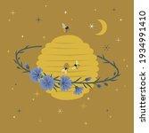 floral cosmic beehive planet...   Shutterstock .eps vector #1934991410
