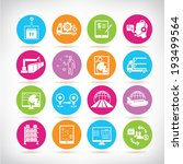 supply chain management icons... | Shutterstock .eps vector #193499564