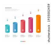 bar chart graph diagram...   Shutterstock .eps vector #1935002459