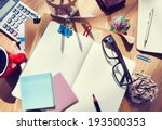 designer's desk with... | Shutterstock . vector #193500353